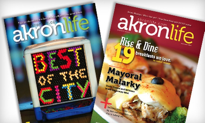 "Akron Life Magazine: $9 for a One-Year Subscription to ""Akron Life Magazine"" (Up to $19.95 Value)"