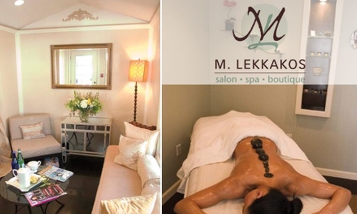 M. Lekkakos - Wenham: $50 for Your Choice of Spa or Salon Package at M. Lekkakos (Up to $200 Value)