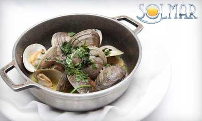 Solmar Restaurant and Pub - Indian Orchard: $20 for $40 Worth of Portuguese Dinner Fare at Solmar Restaurant and Pub (or $10 for $20 Toward Lunch)