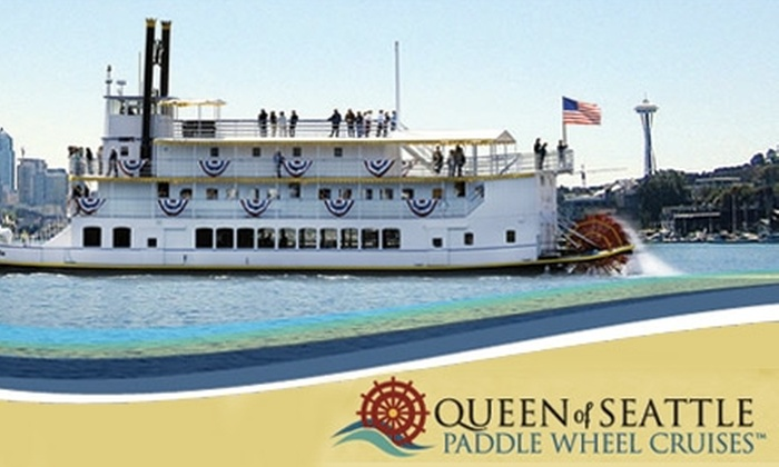 Queen of Seattle Paddle Wheel Cruises - South-Lake Union: $16 for a Two-Hour Cruise of Lake Union Ship Canal via Queen of Seattle Paddle Wheel Cruises