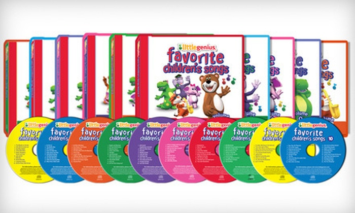 "Little Genius: $29 for Little Genius ""Favorite Children's Songs"" CD Series from Baby Genius ($99 Value)"