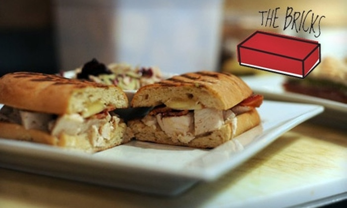 The Bricks - Historic Ybor: $10 for $20 Worth of Eclectic American Fare and Drinks at The Bricks in Ybor City
