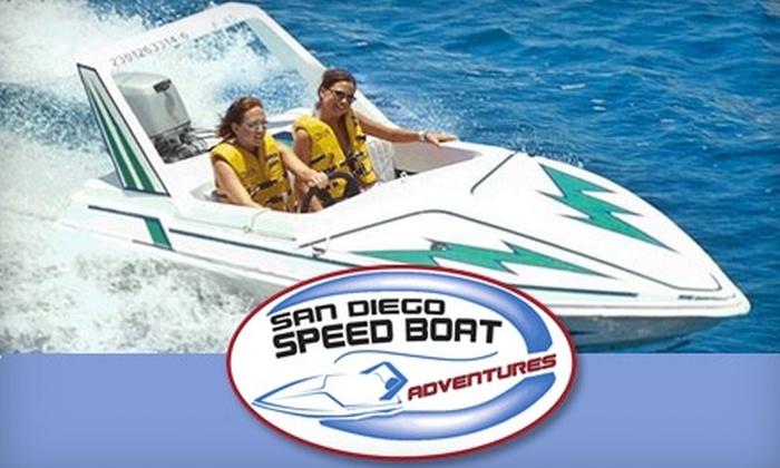 San Diego Speed Boat Adventures - Midway District: $55 Speedboat Tour for Two from San Diego Speed Boat Adventures ($118 Value)