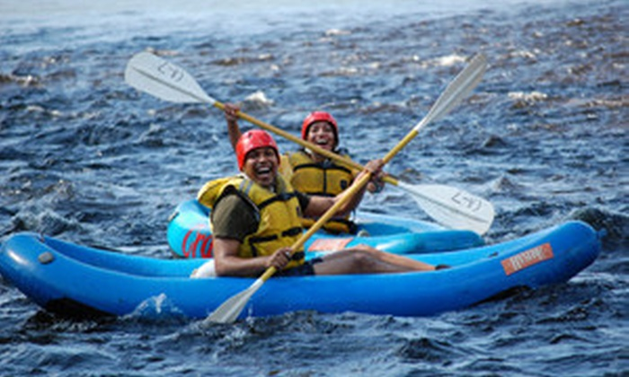 Crab Apple Whitewater - Charlemont: $25 for Three-Hour Inflatable-Kayak Whitewater Excursion from Crab Apple Whitewater in Charlemont (Up to $45 Value)