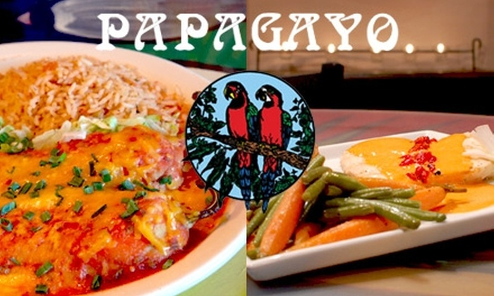 Papagayo Mexican Restaurant & Cantina - Tucson: $15 for $30 Worth of Authentic Mexican Fare and Drinks at Papagayo Mexican Restaurant & Cantina