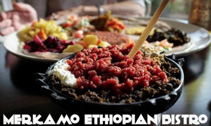 Merkamo Ethiopian Bistro - Springfield: $12 for $25 Worth of Ethiopian Cuisine and Drinks at Merkamo Ethiopian Bistro