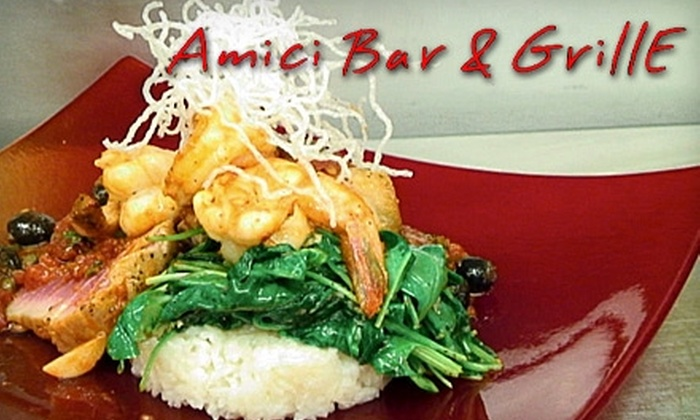 Amici Bar & Grille - Providence: $25 for $50 Worth of Italian Fare and Drinks at Amici Bar & Grille