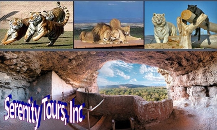 Serenity Tours - The Strip: $125 for a Ticket to Out of Africa Wildlife Safari Park and Montezuma Castle National Monument Tour with Serenity Tours ($269 Value)