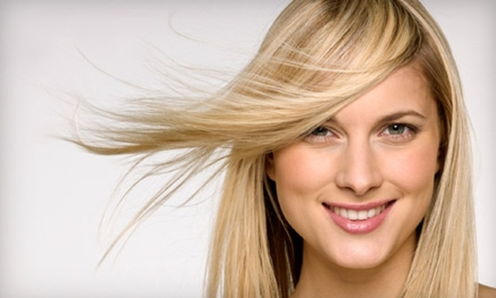 Scruples Hair Design - Central City: $25 for a Women's Shampoo, Cut, and Style (Up to $50 Value) or $10 for a Men's Cut ($25 Value) at Scruples Hair Design