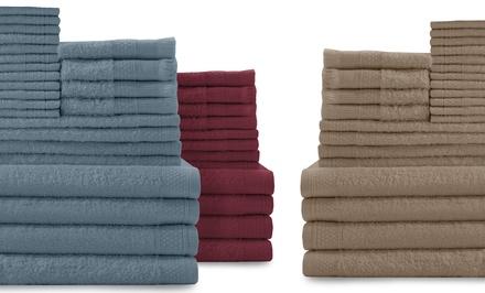 24-Piece 100% Cotton Towel Set