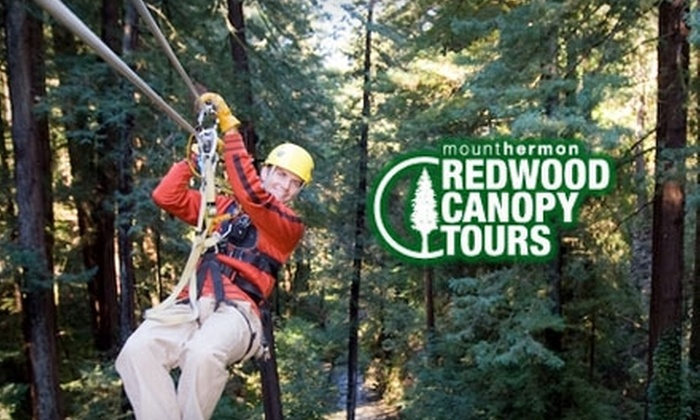 Mount Hermon Redwood Canopy Tours - Santa Cruz: $39 for a Two-Hour Zipline Tour at Mount Hermon Redwood Canopy Tours ($80 Value)