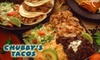 Chubby's Tacos - Multiple Locations: $5 for $10 of Mexican Fare at Chubby's Tacos. Choose from Five Locations.
