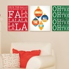 """20""""x16"""" Christmas Phrases on Gallery Wrapped Canvas"""