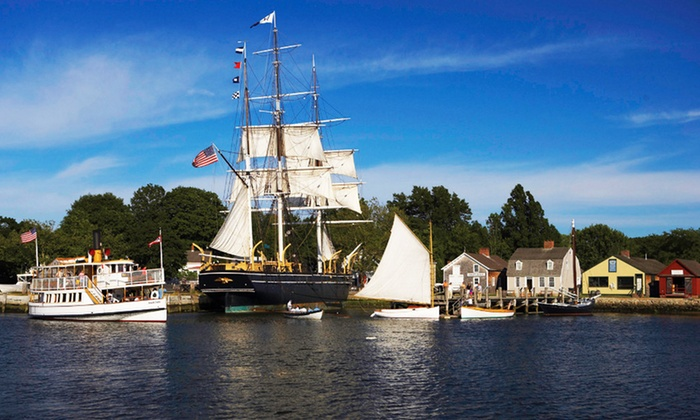 Mystic Seaport: The Museum of America and the Sea - Mystic Seaport: One-Year Family, Individual, or Grandparent Membership Mystic Seaport (Up to 30% Off)