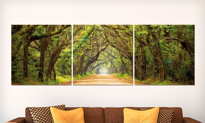 Vinyl-Mounted Triptych Prints: $99.99 for a Set of Three Triptych Prints ($220 List Price). 13 Prints Available. Free Shipping and Returns.