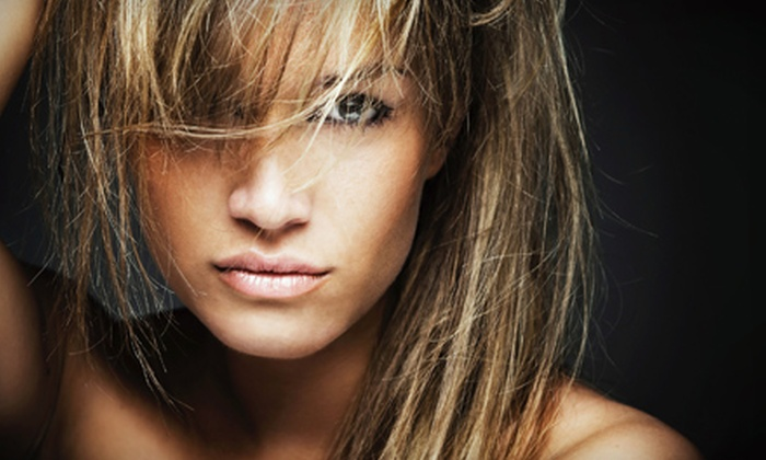 Dream Spa & Salon - Downtown Greenwich: Cut and Blow-Dry with Conditioning or Partial Highlights, or a Keratin Treatment at Dream Spa & Salon (Up to 63% Off)