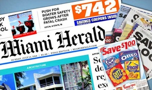 "$9 For 6-month Sunday Home Delivery To The ""miami Herald"" ($40.07 Value)"