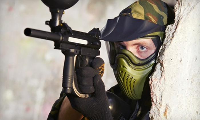 Frog Holler Paintball Field - Derby: All-Day Paintball Outing for Two, Four, or Eight with Air, Gear, and Paintballs at Frog Holler Paintball (Up to 57% Off)