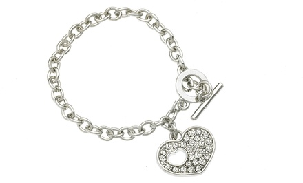 Heart Toggle Bracelet with Swarovski Elements