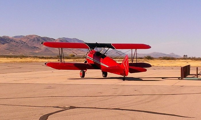 Big Red Biplanes - Falcon Field Airport: Aerial Mountain Tour from Big Red Biplanes (Up to 40% Off)