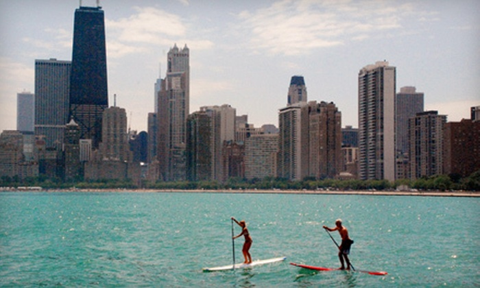 Great Lakes Board Company - Lincoln Park: Two-Hour Paddleboard Rental or Two-Hour Paddleboard Expedition for Two from Great Lakes Board Company (Half Off)