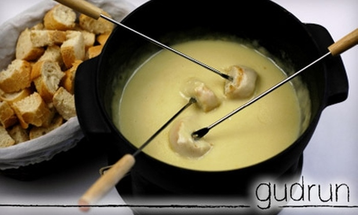 Gudrun Tasting Room - Steveston: $25 for Fondue and Wine Flights for Two at Gudrun Tasting Room in Steveston ($55 Value)