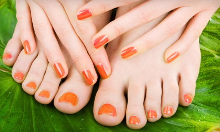 Queen Nail - Knoxville: $29 for a Manicure and Pumpkin-Spice Pedicure at Queen Nail ($58 Value)