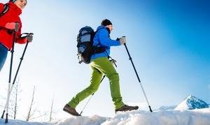 Terre di Mare: Escursione con ciaspole sulla neve o Nordic Walking per 2, 4 o 6 persone con Terre di Mare (sconto fino a 89%)