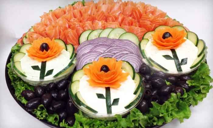 Bethesda Bagels - Multiple Locations: Sandwich Platter or Nova Platter for 10 at Bethesda Bagels (Up to 57% Off)
