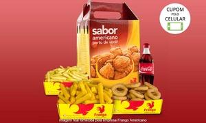 Frango Americano - Maceió: Frango Americano – Maceió:frango americano individual, pequeno, médio ou grande + acompanhamento e refrigerante