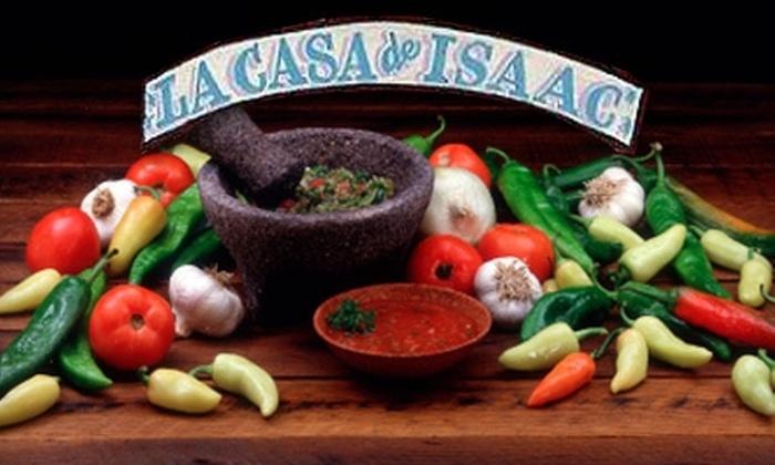 La Casa de Isaac - Highland Park: $10 for $20 Worth of Mexican Fare at La Casa de Isaac in Highland Park