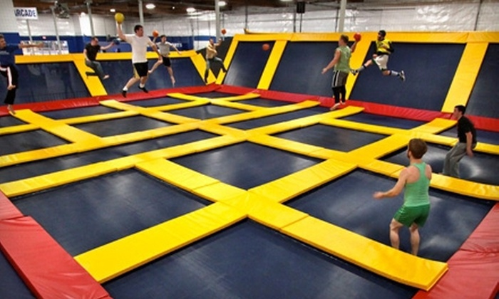 Sky High Sports - Concord: Two-Hour Trampoline-Birthday Package for Up to 10 with Pizza on a Weekday or Weekend at Sky High Sports (Up to 49% Off)