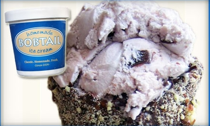 Bobtail Ice Cream Company - Lakeview: $4 for $8 Worth of Sundaes and Shakes at Bobtail Ice Cream Company