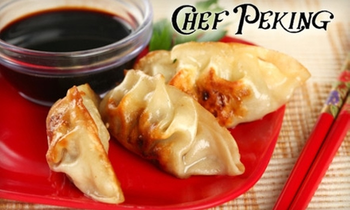 Chef Peking - Redwood City: $6 for $12 Worth of Chinese Cuisine and Drinks at Chef Peking in Redwood City