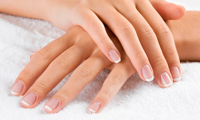 Forever-French Salons - Forever-French Salons: Gel Mani/Classic Pedi, Two Sets of Sculpted Bling Nails, or Two Bling Fill-Ins at Forever-French Salons (Up to 76% Off)