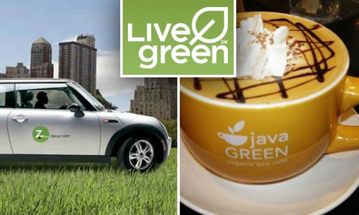 Live Green - Washington DC: One-Year Live Green Membership and $10 Worth of Organic Fare at Java Green Café for $11