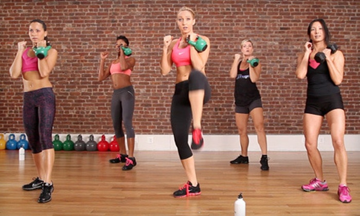 Anderson's Martial Arts Academy - Tribeca: 5, 10, or 20 Women's Drop-In Kettlebell Kickboxing Classes at Anderson's Martial Arts Academy (Up to 75% Off)