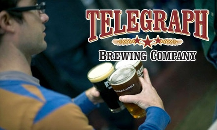Telegraph Brewing Company - Lower East: $22 for Two Five-Beer Tastings, (includes a 10 oz. Glass of Beer), and Two Half-Gallon Growler Jugs at Telegraph Brewing Co. in Santa Barbara ($44 Value)