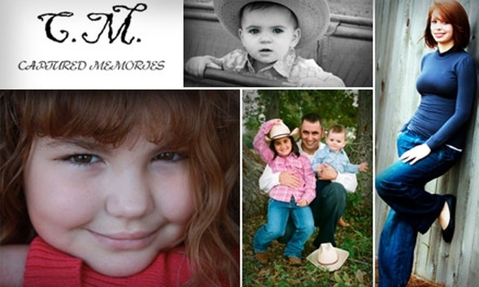 Captured Memories - Houston: $50 for Outdoor Photography Session at Captured Memories ($250 Value)