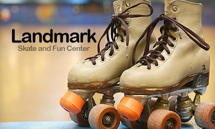Landmark Skate and Fun Center - Pensacola / Emerald Coast: $7 for Two Admissions and Skate Rentals at Landmark Skate and Fun Center ($14 Value)