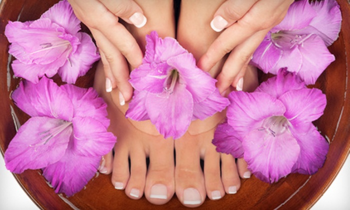 Chenell's Natural Nails - Ocee: One or Two Basic or Shellac Mani-Pedis at Chenell's Natural Nails in Alpharetta (Up to 65% Off)