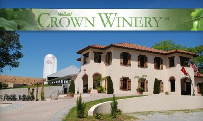 The Crown Winery - Humboldt: $25 for a Wine Tour and Tasting, T-Shirts and Etched Crown Winery Glasses for Two at The Crown Winery in Humboldt ($50 Value)