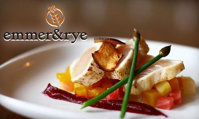 emmer&rye - West Queen Anne: $25 for $50 Worth of Seasonally Inspired Cuisine and Drinks at emmer&rye