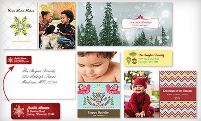 Vistaprint: Holiday-Card Package with Set of 30 or 50 Custom Holiday Cards with Included Shipping from Vistaprint (Up to 81% Off)