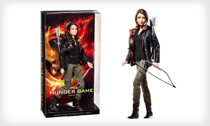 """Barbie """"The Hunger Games"""" Katniss Doll: $10 for Barbie Collector's Edition """"The Hunger Games"""" Katniss Doll with Shipping Included ($37.44 Total Value)"""