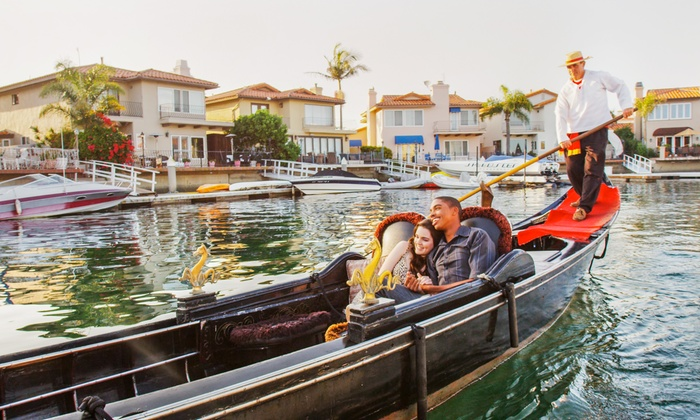 Sunset Gondola - Huntington Beach: 60- or 90-Minute Private Gondola Cruises for Up to Four from Sunset Gondola (51% Off)