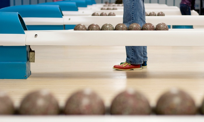 Glen Burnie Bowling Center - Ferndale: Four or Eight Games of Duckpin Bowling for Four Players with Shoe Rentals and Pizza at Glen Burnie Bowling (52% Off)