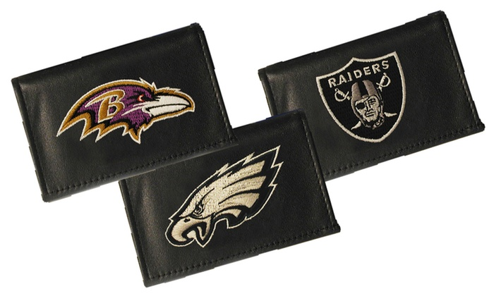 NFL Embroidered Leather Wallets: $16 for an NFL Embroidered Leather Wallet ($34.99 List Price). 22 Teams Available. Free Shipping.