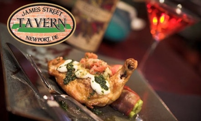 James Street Tavern Wilmington - Wilmington-Newark: $10 for $20 Worth of Tavern Fare and Drinks at James Street Tavern