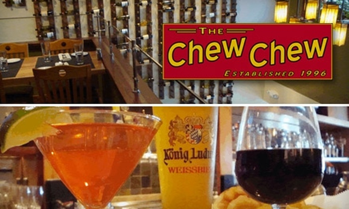 The Chew Chew - Riverside: $20 for $40 Worth of Neighborhood American Cuisine at The Chew Chew in Riverside